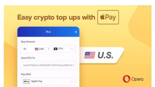V USA koupíte Bitcoiny s Apple Pay prostřednictvím Opery