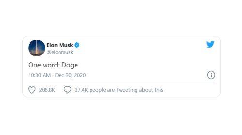 Někdo chce zaplatit 7 777 dolarů za tweet Elona Muska o dogecoinu