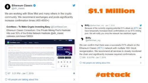 Coinbase pozastavila obchodování Ethereum Classic (ETC) po úspěšném 51% útoku