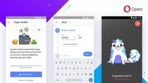 Opera pro Android má nyní krypto peněženku